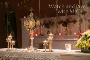 Monstrance on Enniskeane Church's altar